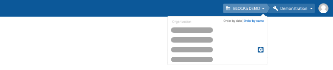 Organization selector