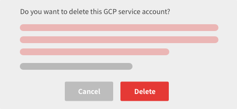 Confirm deletion screen