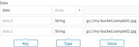 Image classification: prediction input data as an array of strings