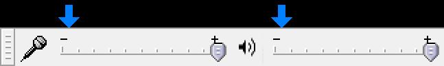 Audacity Mixer Toolbar