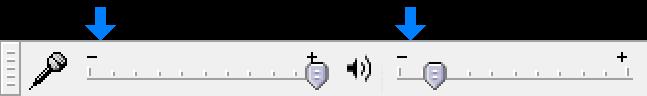 Audacity のミキサーツールバーの図
