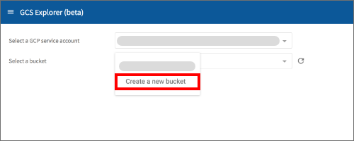 New bucket menu