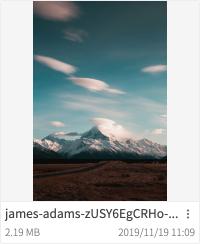 グリッド形式表示における画像ファイルの表示例