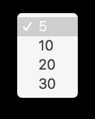 簡易検索アプリの limit 選択中の図