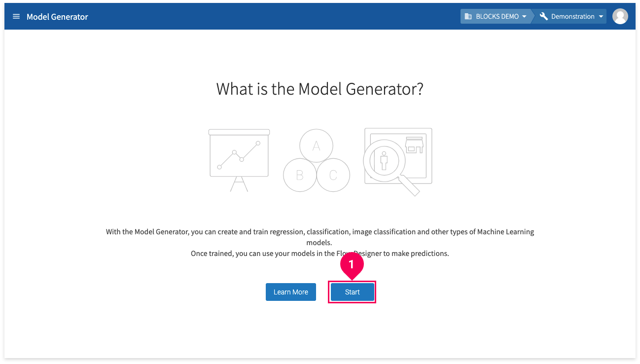 The What is the Model Generator screen