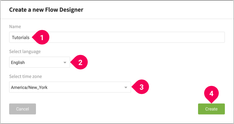 Creating a Flow Designer