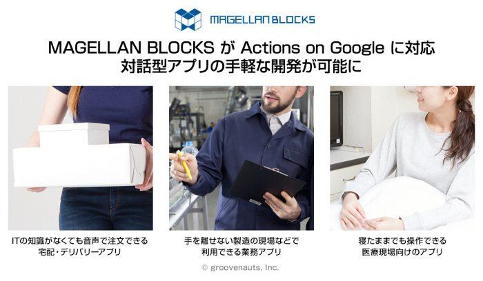 機械学習クラウドの「MAGELLAN BLOCKS」が「Actions on Google」に対応。対話型アプリの開発を驚きの手軽さで実現可能に。